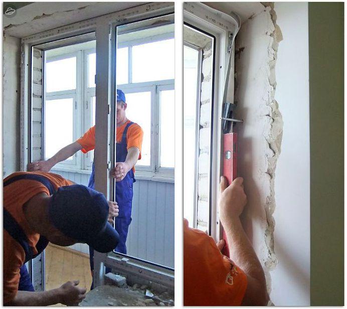 Монтаж балконных дверей в Митино