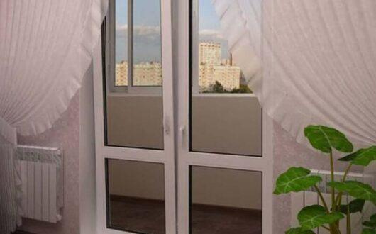 Балконные пластиковые двери в Митино