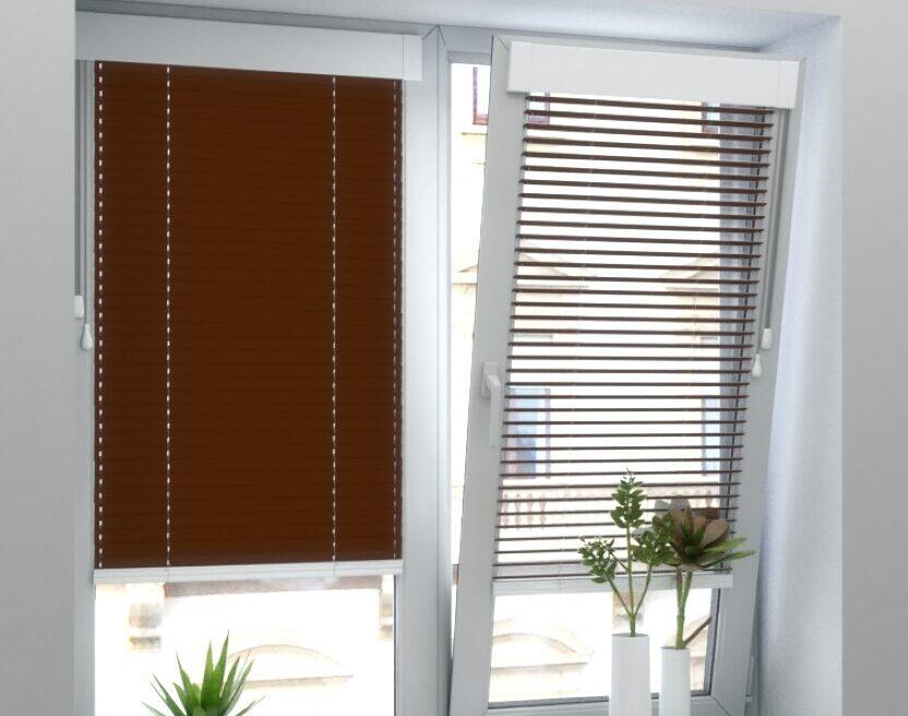 Крепление горизонтальных жалюзи на окна