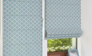 Римские шторы на пластиковые окна для кухни