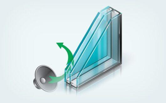 Двухкамерный шумоизоляционный стеклопакет